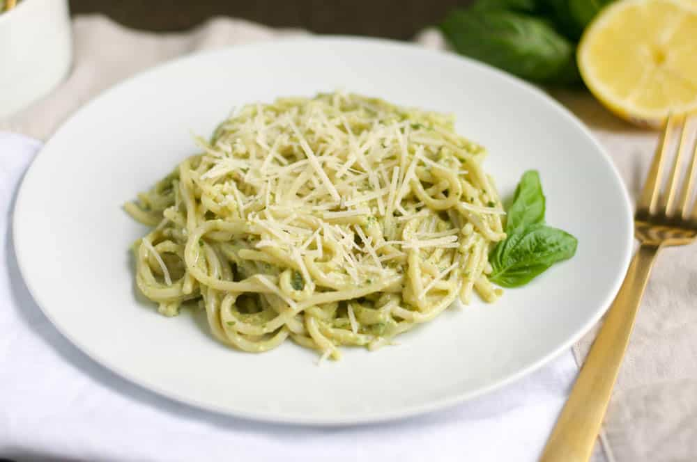 Avocado Parmesan Pesto Pasta