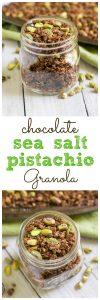 Chocolate Sea Salt Pistachio Granola. Be Whole. Be You.