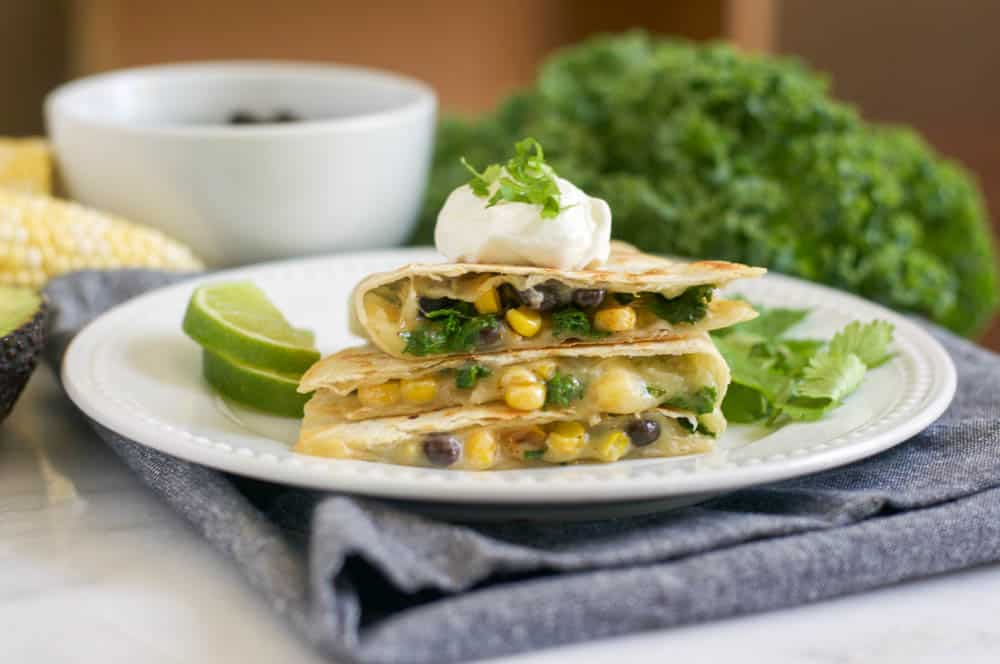 Black Bean & Kale Quesadillas