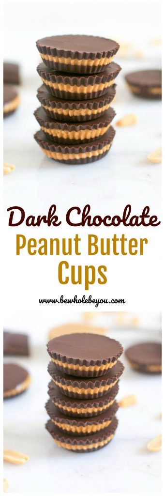Dark Chocolate Peanut Butter Cups. Homemade for the win! Layers of chocolate with creamy maple sweetened peanut butter in between. Everyone's favorite candy just got even better! lemonsandzest.com