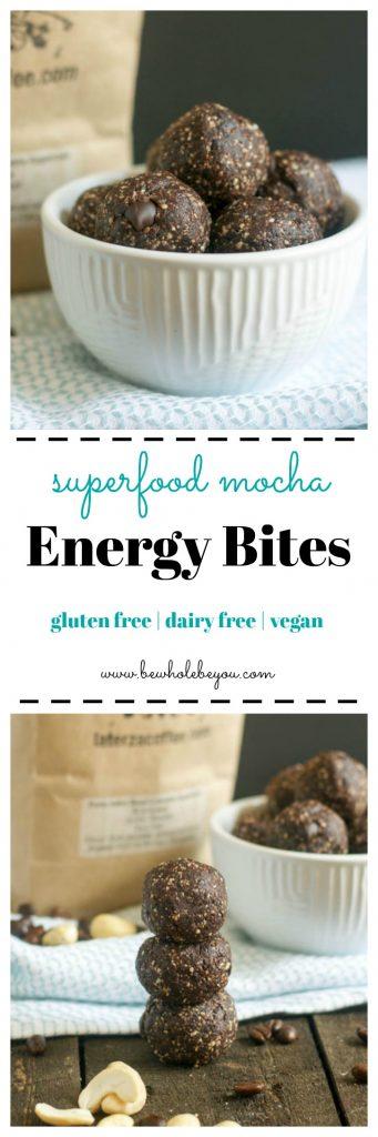 Superfood Mocha Energy Bites. Be Whole. Be You.
