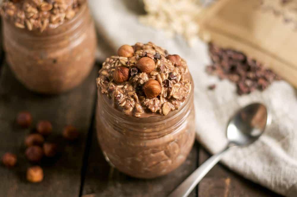Toasted Hazelnut + Salted Chocolate Overnight Oats