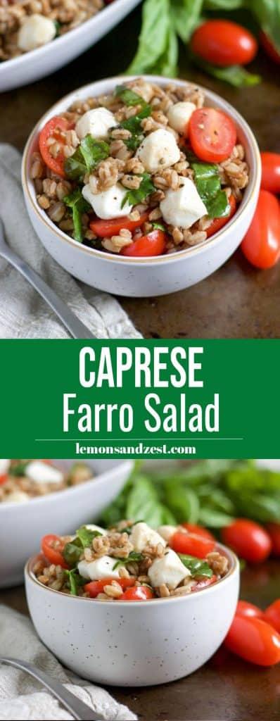 Caprese Farro Salad Pin.