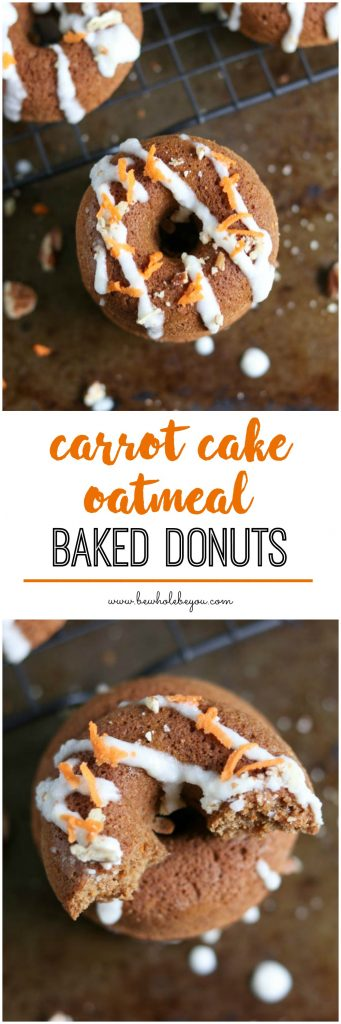 Carrot Cake Donuts with Drizzle.