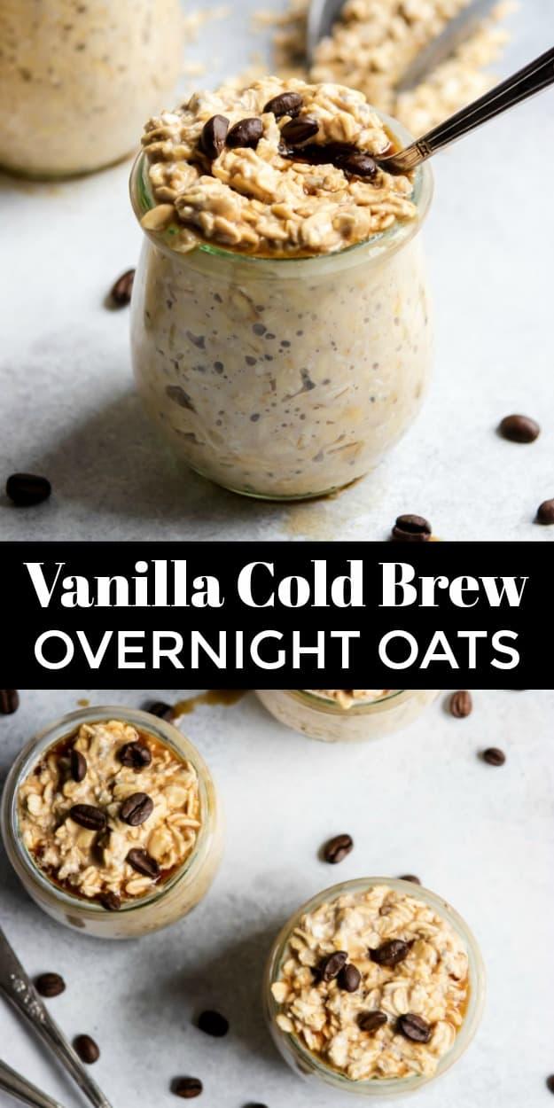 Vanilla Cold Brew Overnight Oats