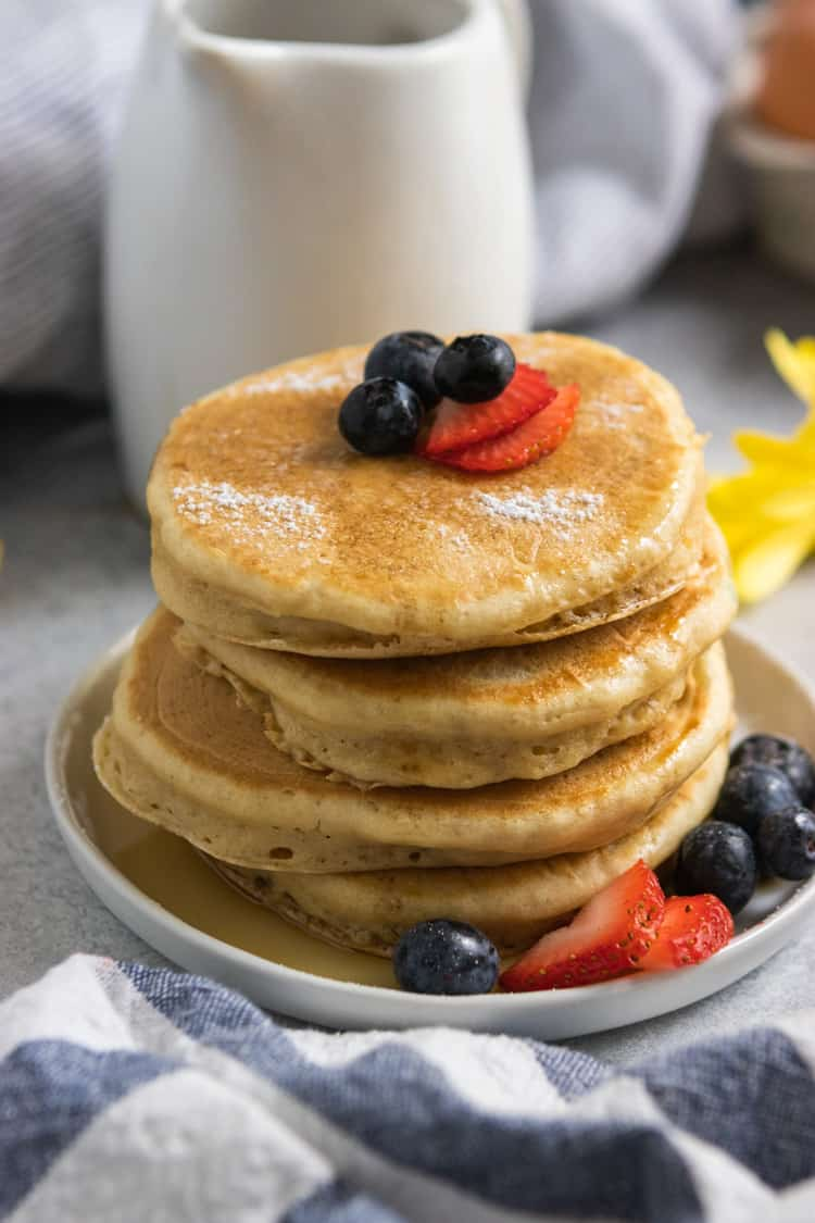 Dairy Free Pancakes with Berries.