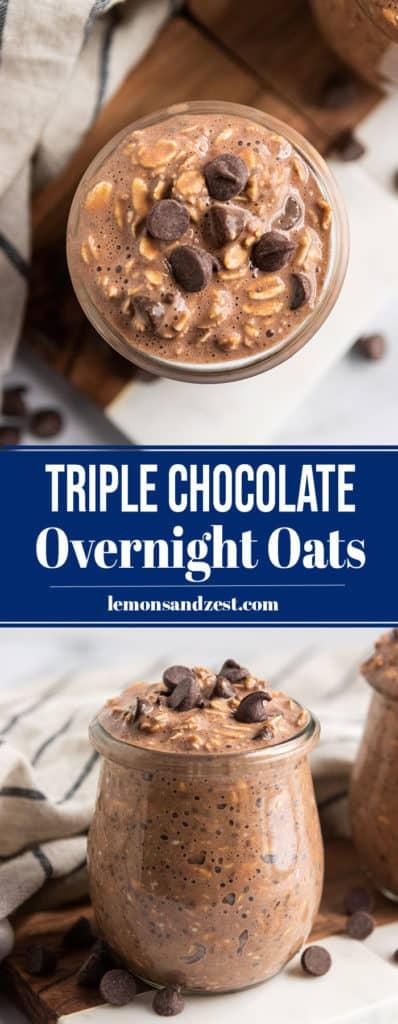 Triple Chocolate Overnight Oats Pin.