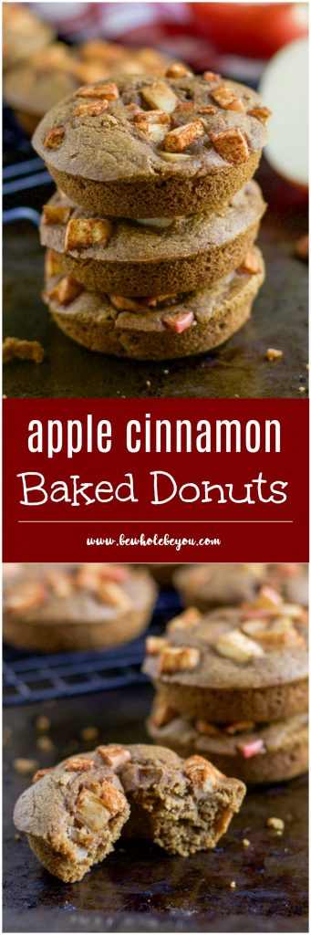 Apple Cinnamon Baked Donuts. There's nothing like baked apples with a hint of cinnamon. Add them to these baked donuts for a perfect cozy breakfast straight from the oven. lemonsandzest.com