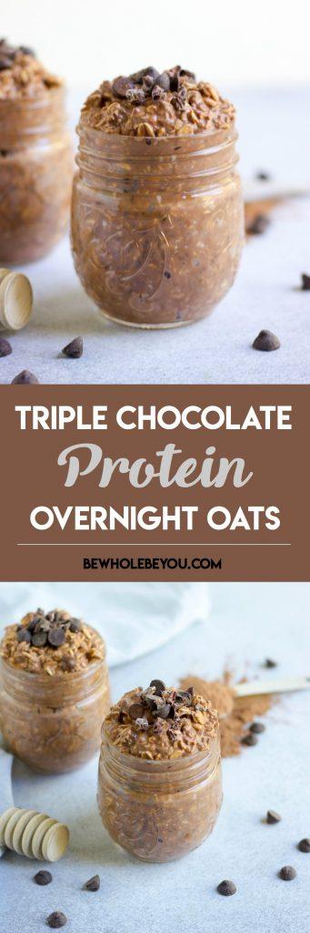 Triple Chocolate Overnight Oats.