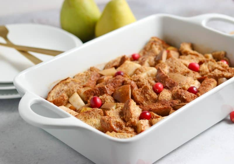 Spiced Pear French Toast Casserole