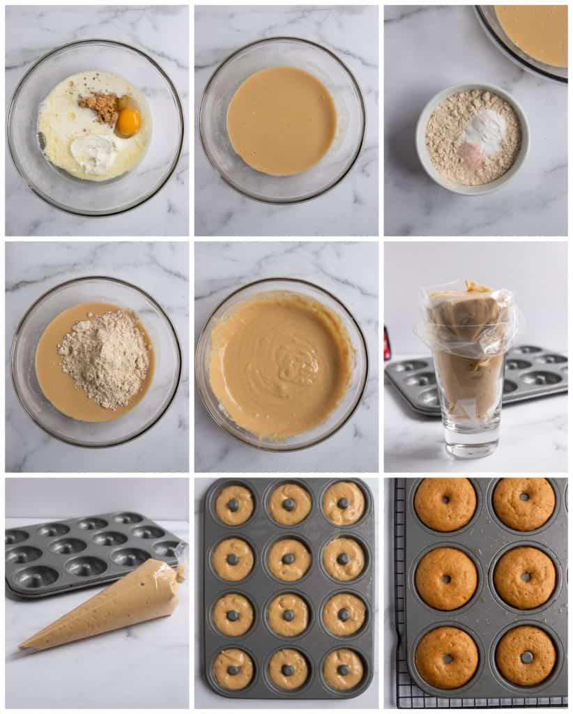 Step by step photos to make donut recipe.