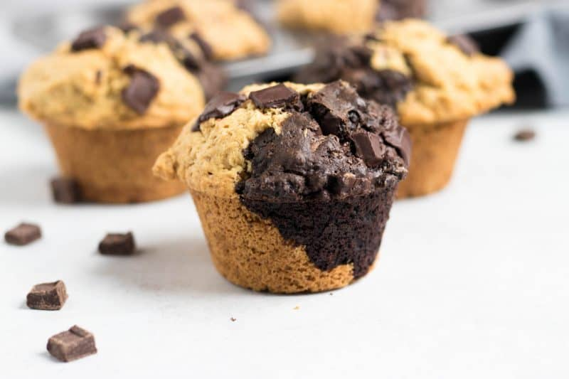 Dairy Free Peanut Butter Chocolate Split Muffins + Eat Dairy Free Book Review