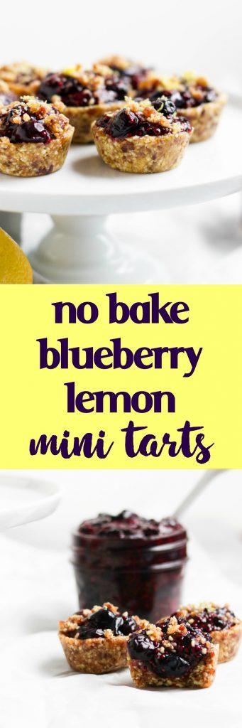 No Bake Blueberry Lemon Mini Tarts. Fresh lemon zest tops these chia blueberry jam bites of refreshing goodness. Simple and no bake will have everyone happy!