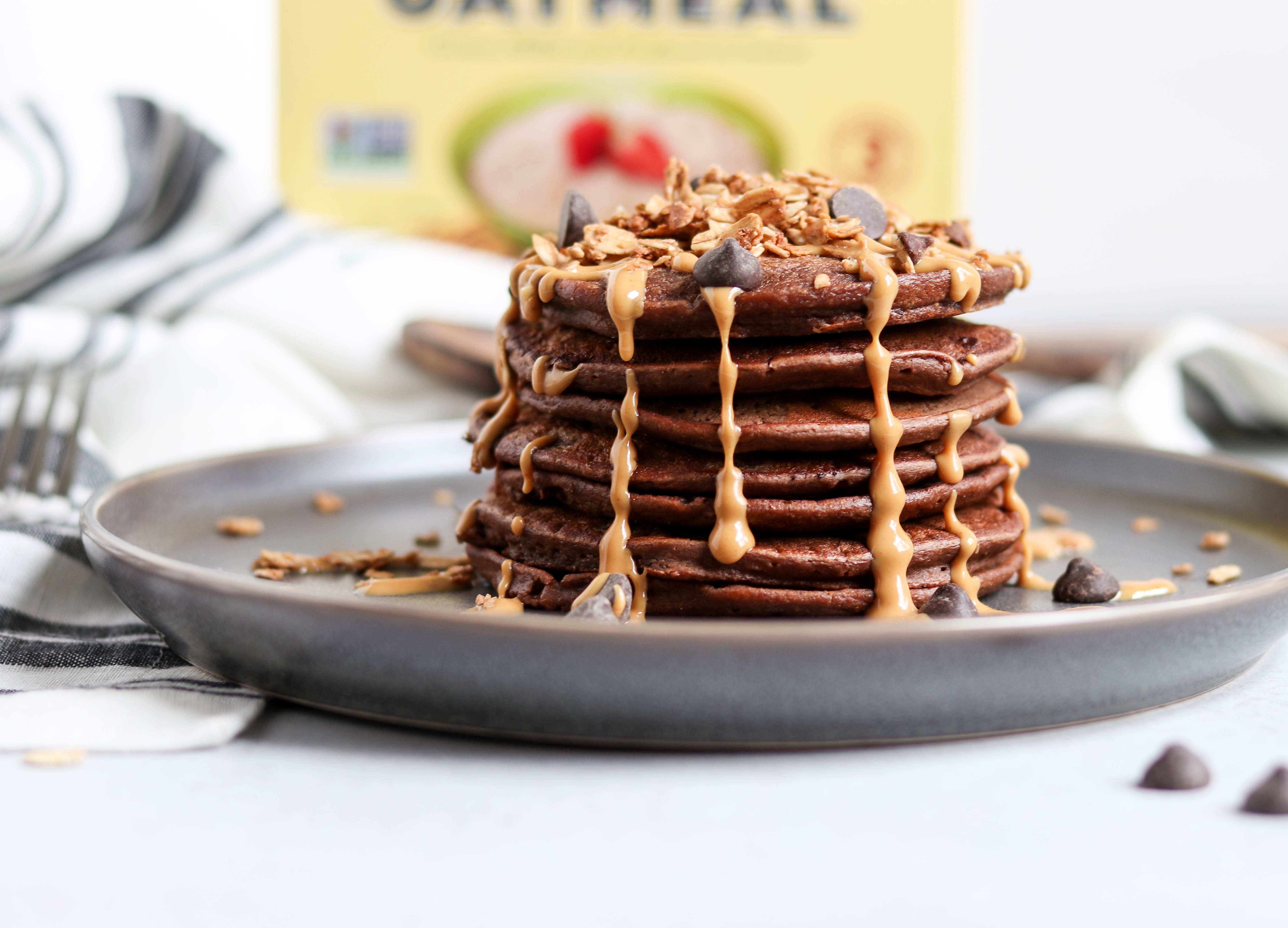 Flahavan's Irish Oats Sweepstakes + Double Chocolate Banana Oat Blender Pancakes