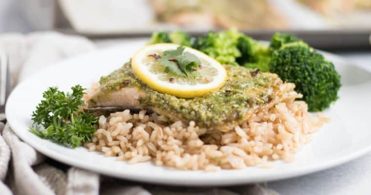 The Best Detox I Ever Did… And I don't do detoxes. {Cilantro Pesto Rainbow Trout}