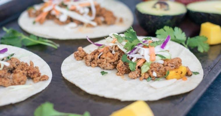 Siracha Mango Tacos + Taco! Taco! Taco!