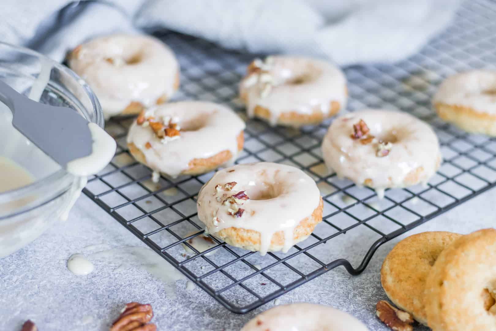 Triple Vanilla Donuts with Maple Vanilla Glaze
