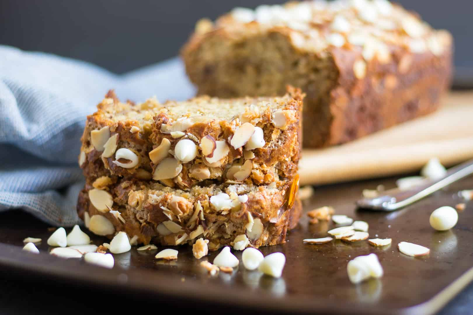 White Chocolate Almond Banana Bread