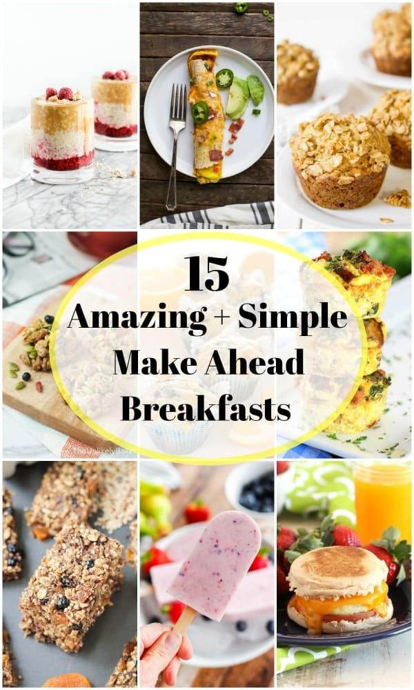 Whether you are going back to school or planning for the work week, these simple and delicious breakfast recipes are make ahead so you don't have to worry about it in the morning. #breakfast #backtoschool #overnightoats #breakfastrecipes #mealprep