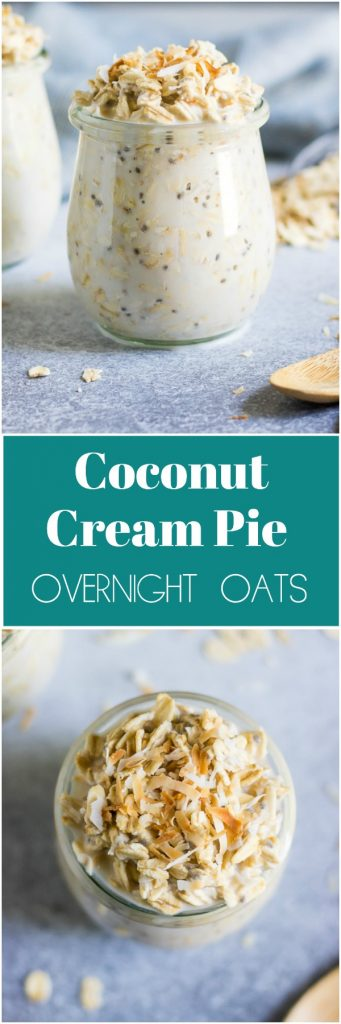 Coconut Cream Pie Overnight Oats