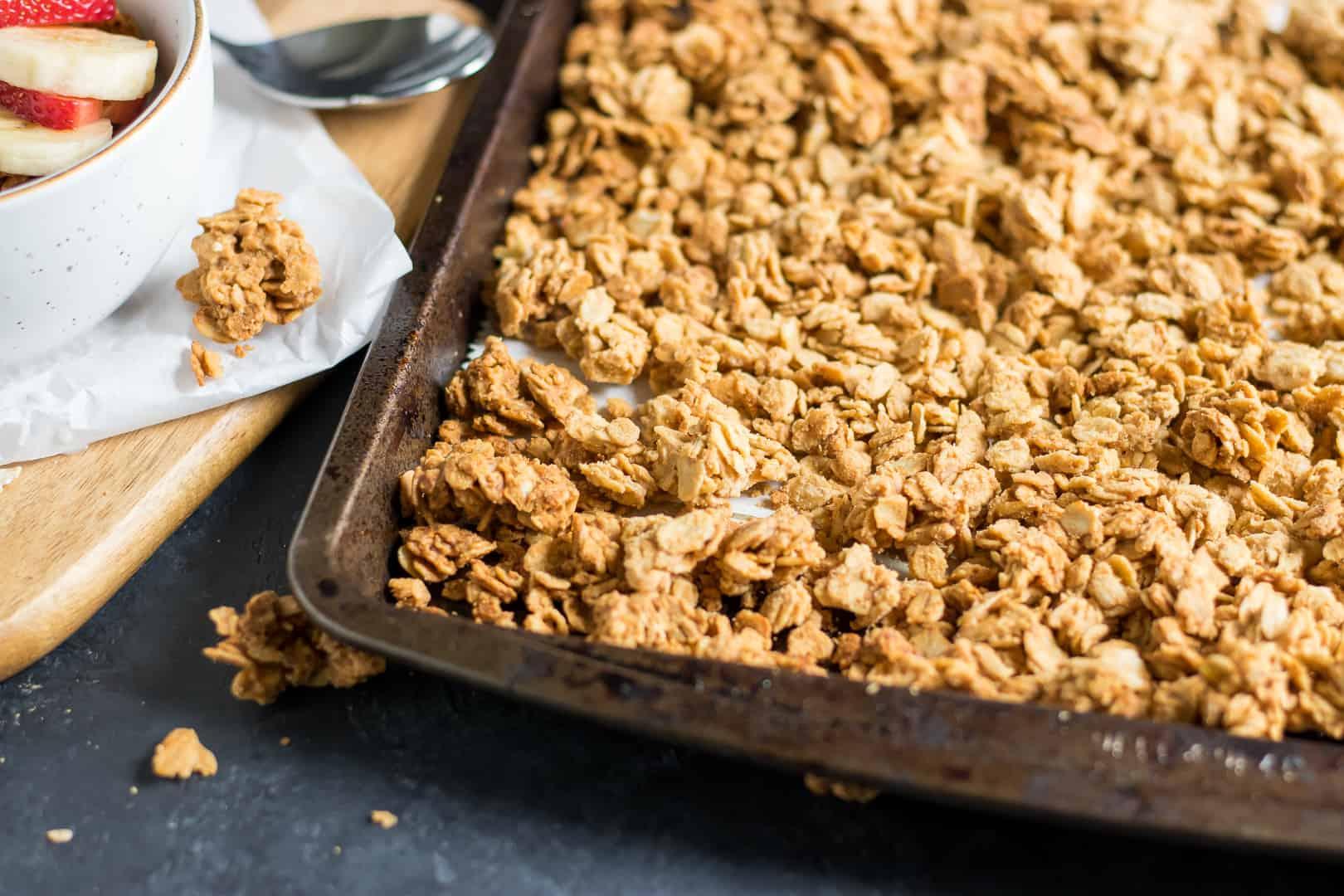Simple Crunchy Peanut Butter Granola Lemons Zest