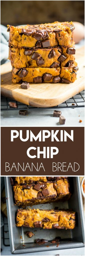 Pumpkin Chip Banana Bread