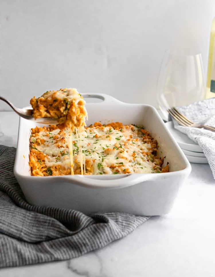 Pumpkin Ricotta Pasta Bake.