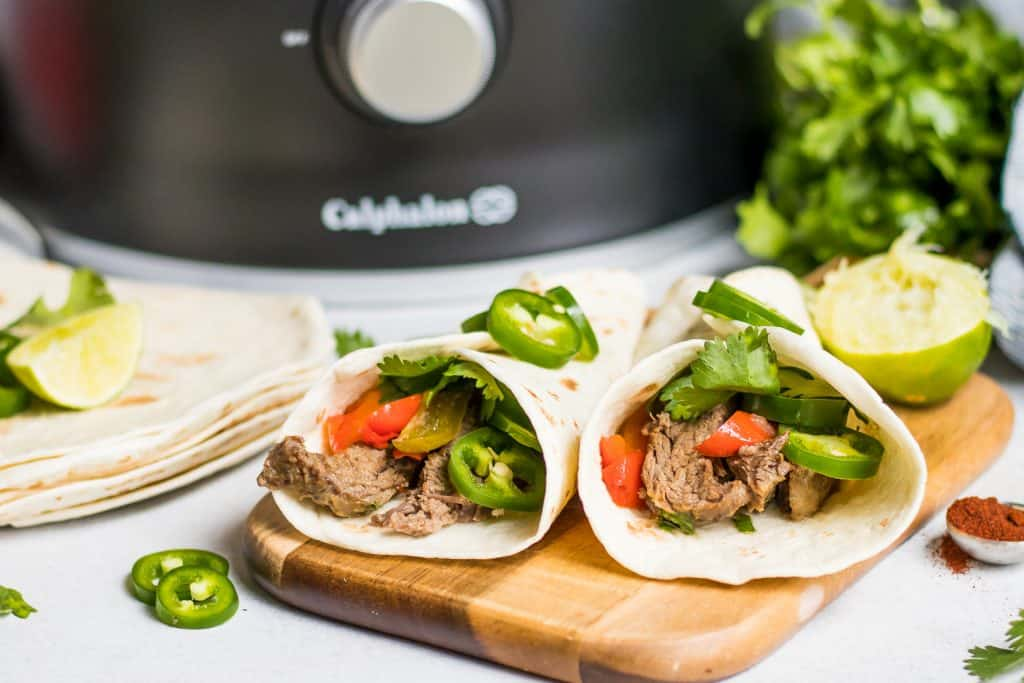 Crockpot Steak Fajitas.