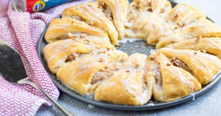 Snickerdoodle Cheesecake Stuffed Crescent Wreath