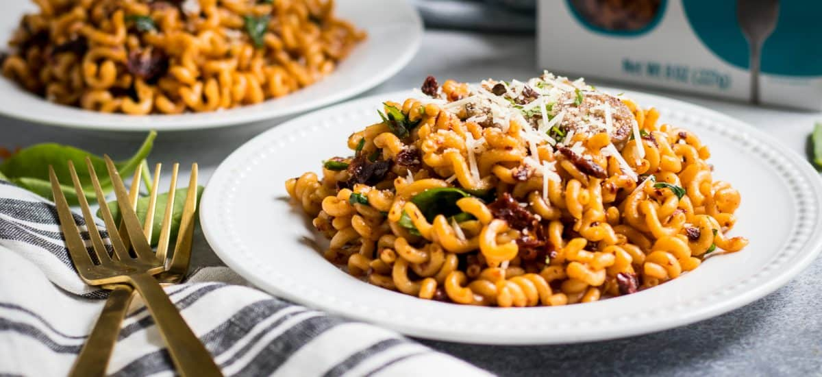 Spicy Sun-Dried Tomato Pasta with Italian Sausage