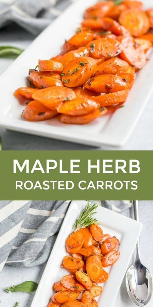 Maple glazed roasted carrots pin.