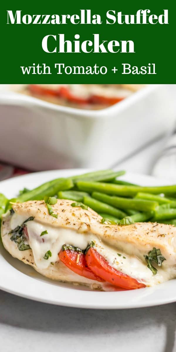 Mozzarella Stuffed Chicken Breast with Tomato and Basil