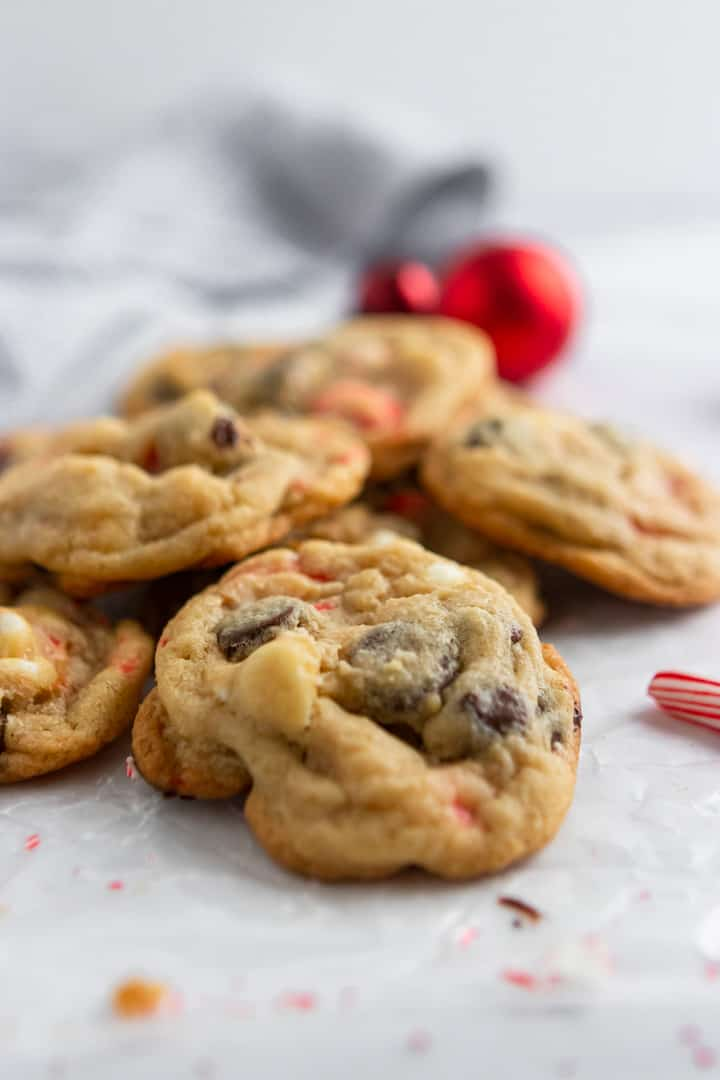 Peppermint Chocolate Chip Cookies.