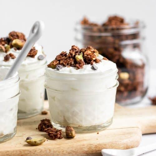 Chocolate Granola Recipe with Pistachios + Sea Salt