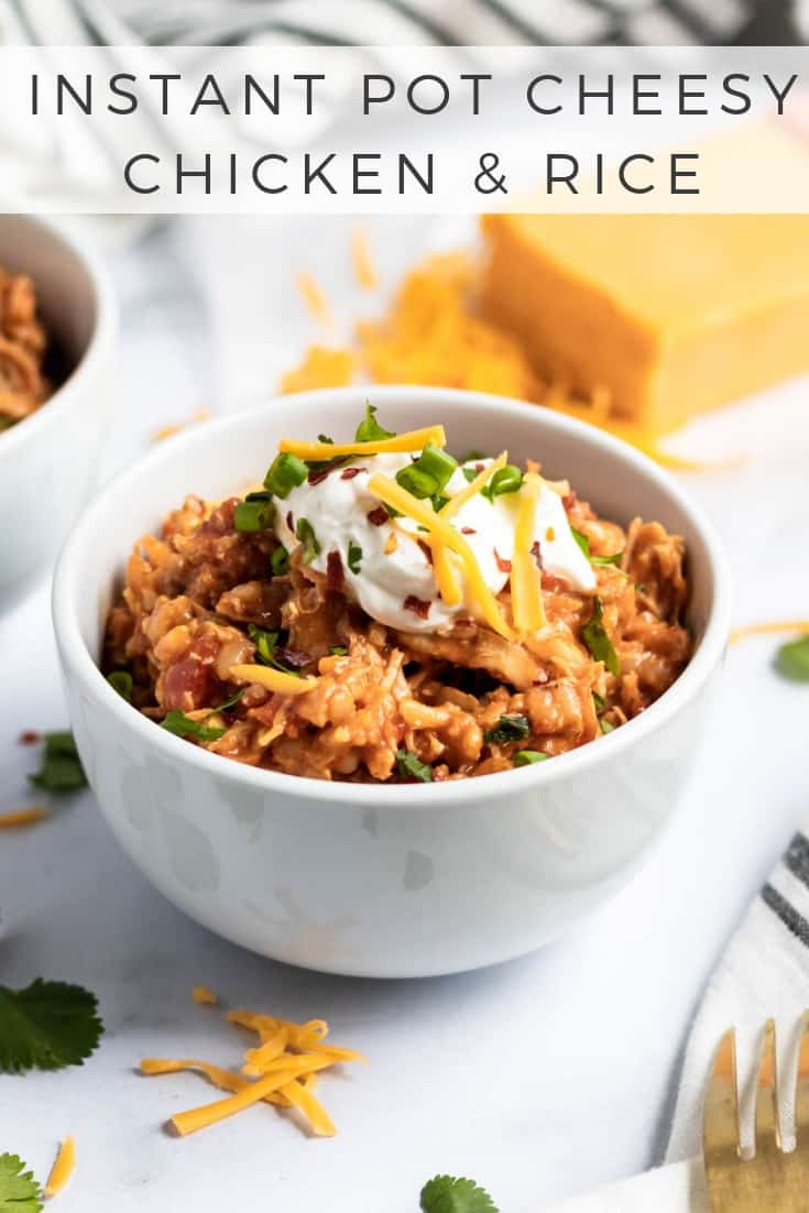 Instant Pot Cheesy Chicken and Rice