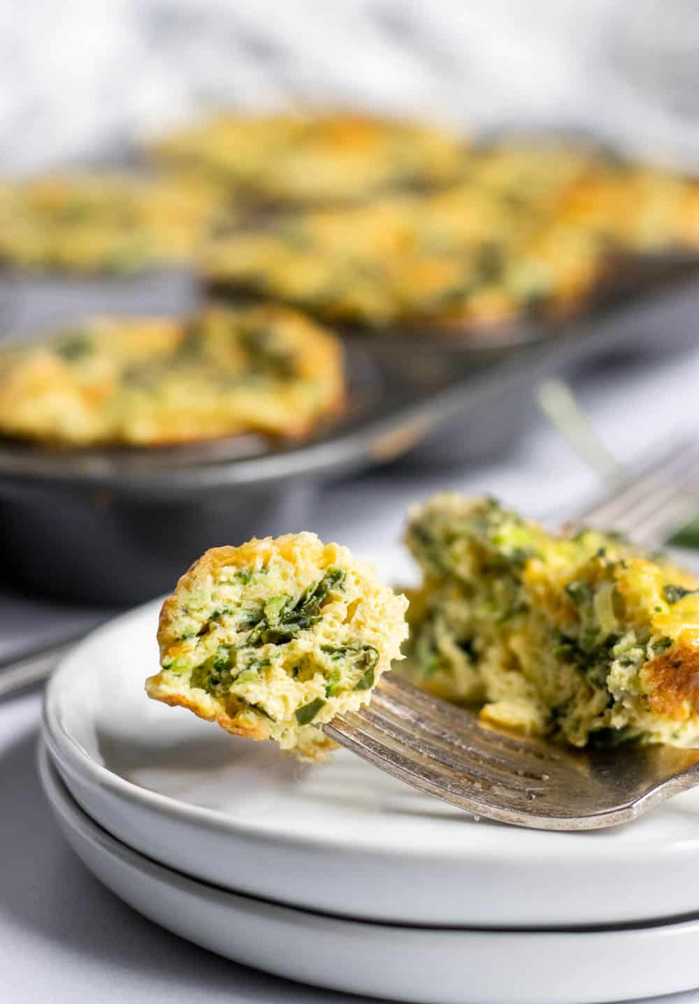 Breakfast Egg Muffins with Spinach and Zucchini