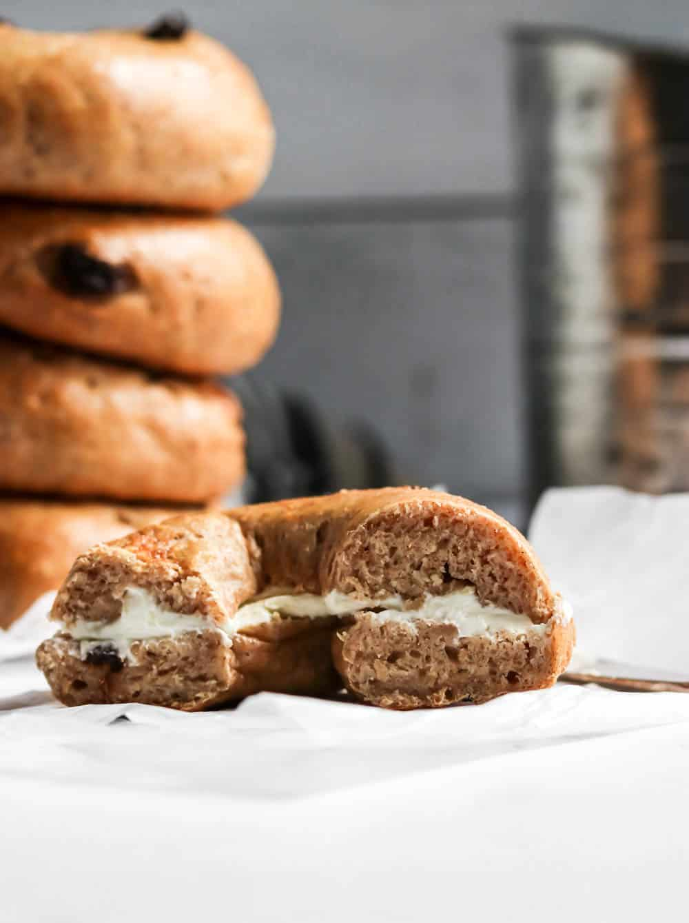 Cinnamon Raisin Easy Bagel Recipe
