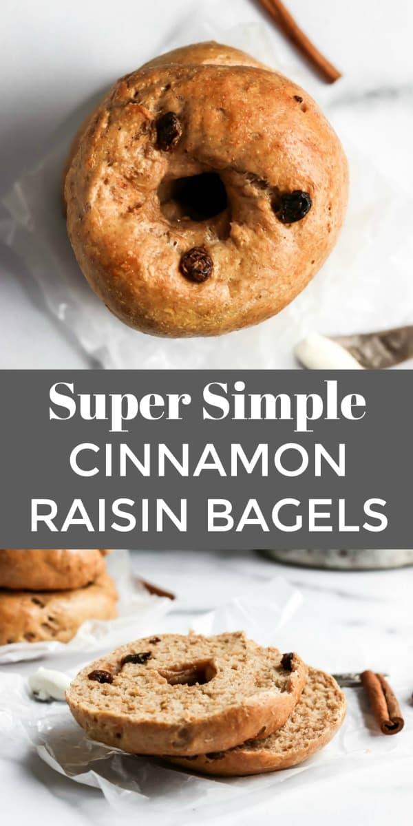 Simple Cinnamon Raisin Bagel Pin.