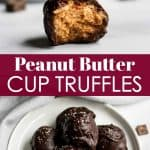 peanut butter cup truffles