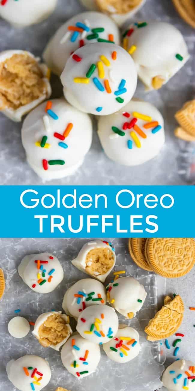 golden Oreo truffles