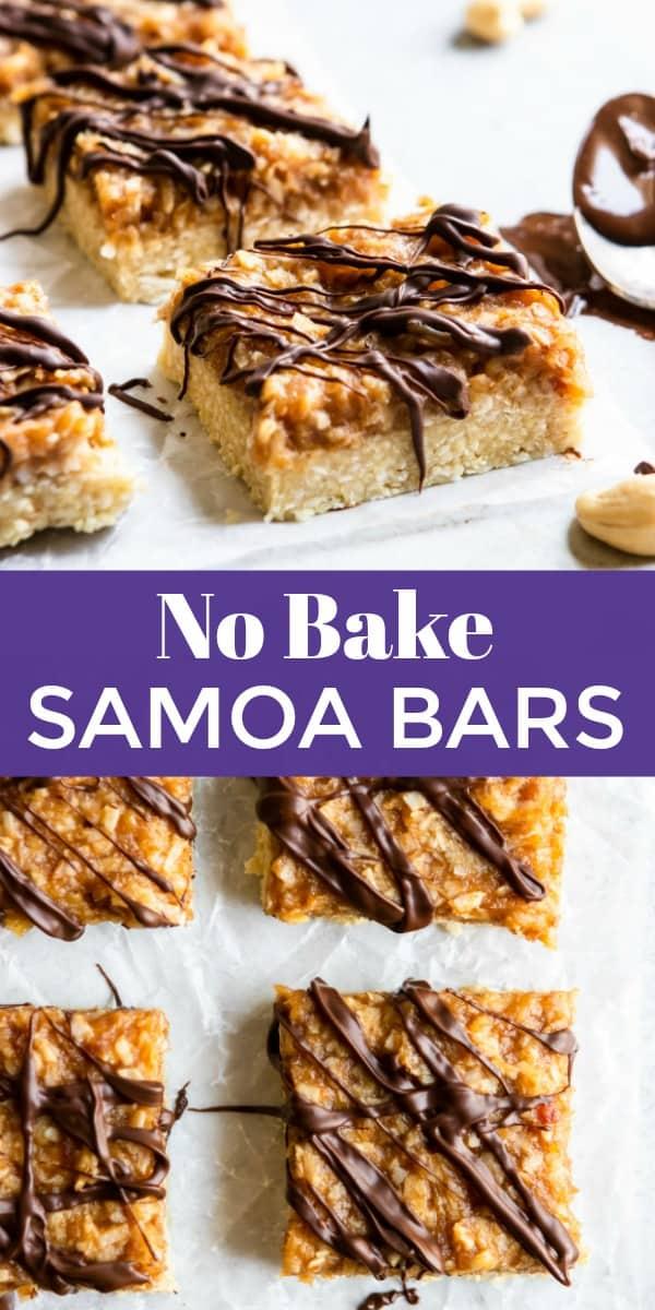 No Bake Samoa Bars