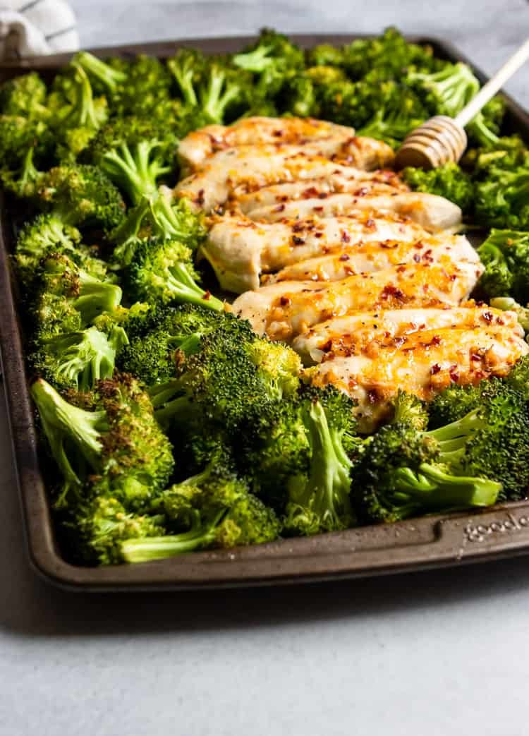 Baked Orange Chicken and broccoli