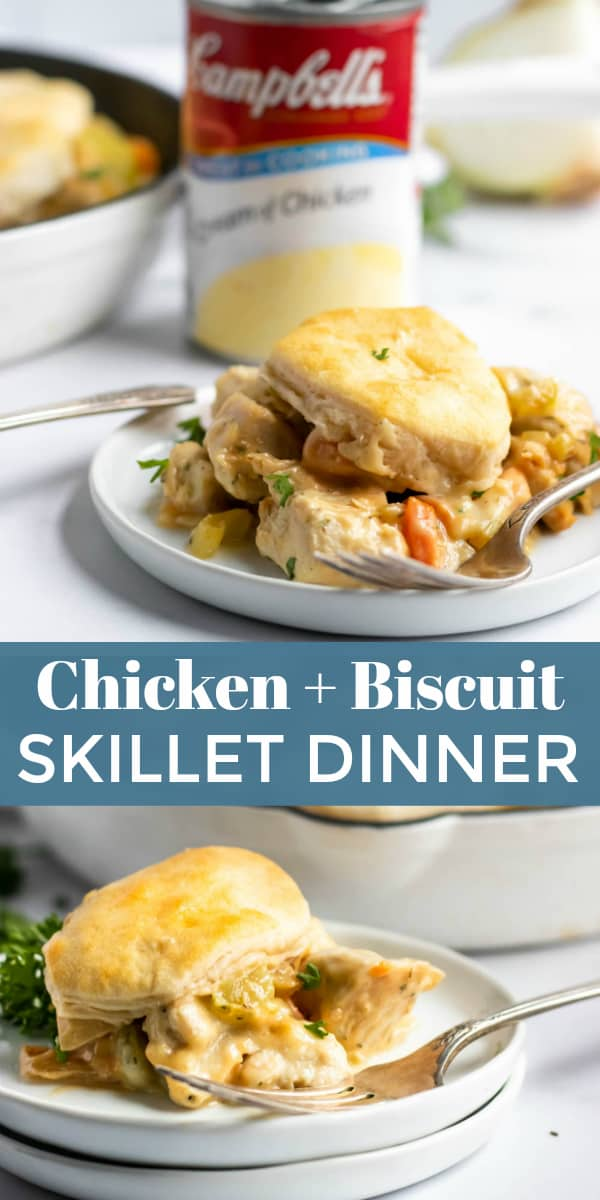 simple chicken and biscuit skillet