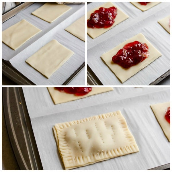 Step by step photos to make homemade pop tarts.