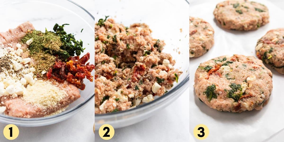 steps to make turkey burger recipe.