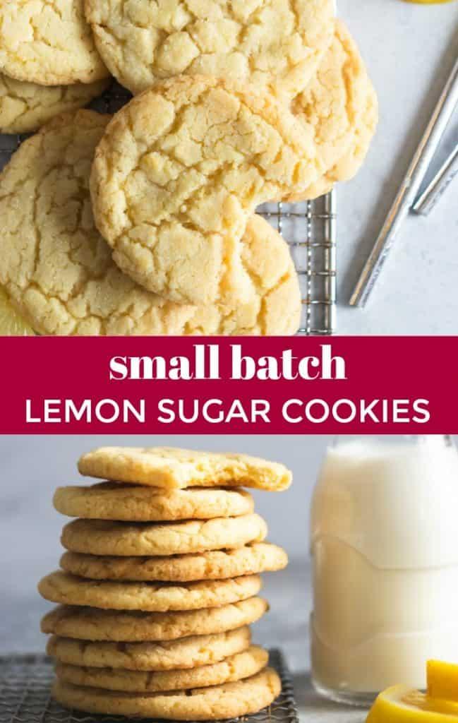 Small Batch Lemon Sugar Cookies Lemons Zest