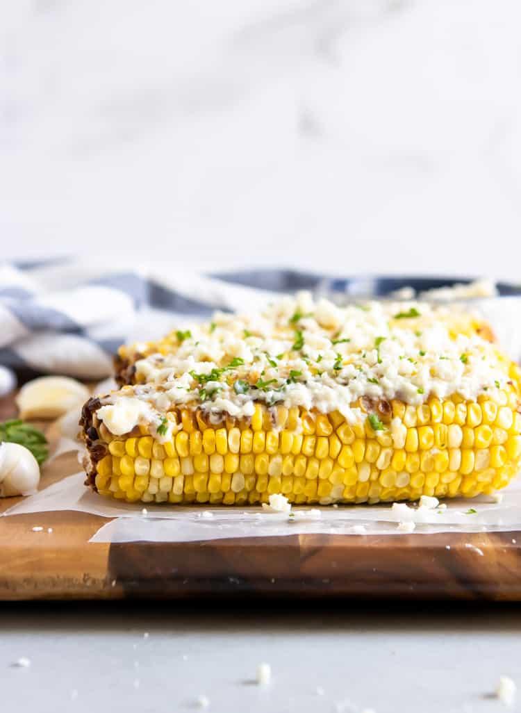 Street Corn with Garlic Feta Butter