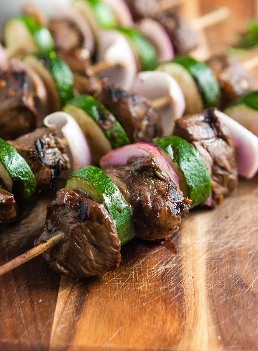 Grilled Steak Kabobs.