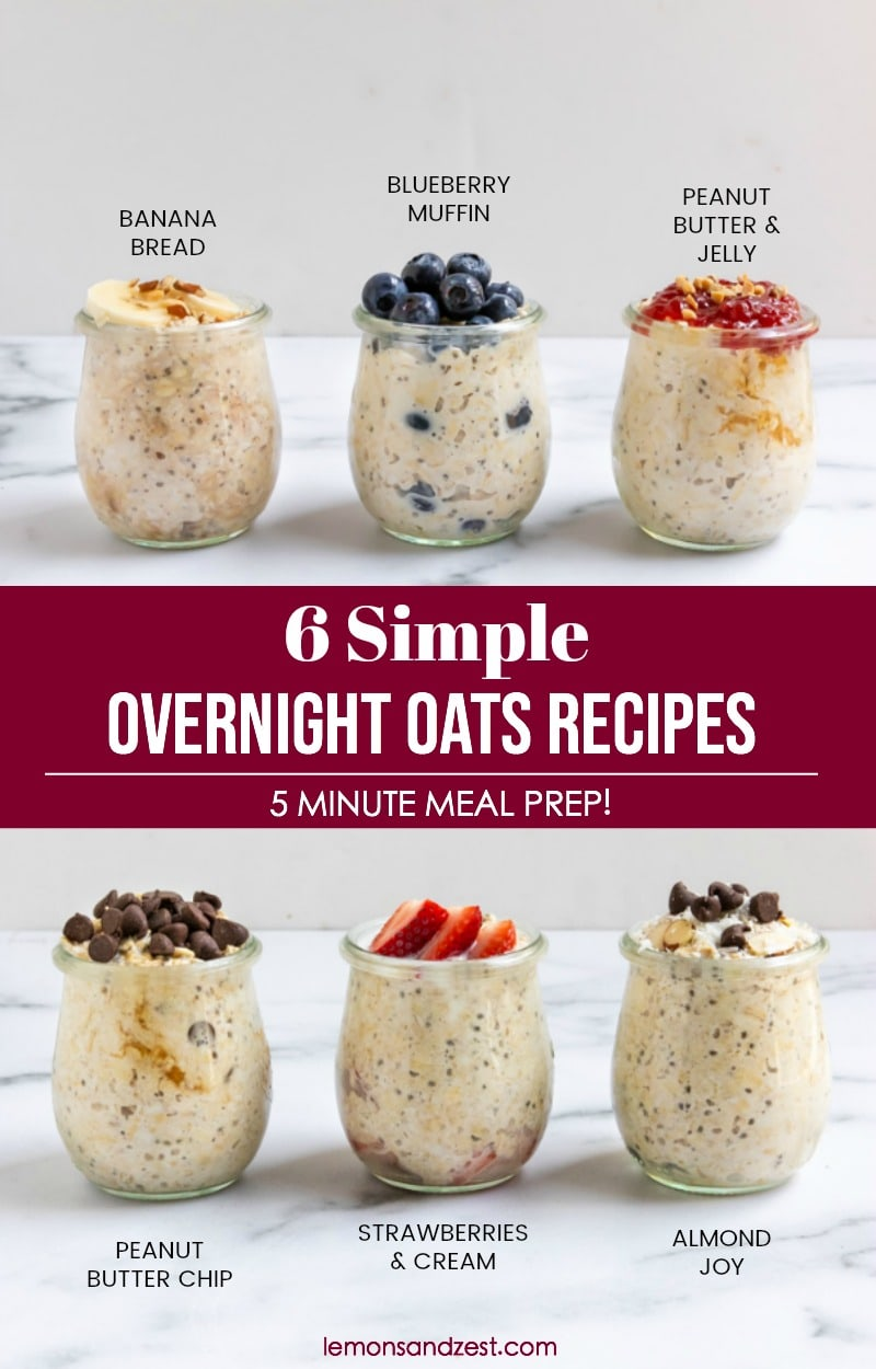 Easy Overnight Oats Pin.