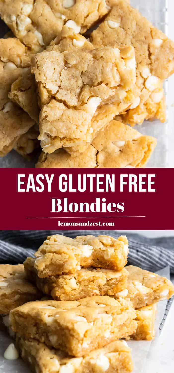 Gluten Free Blondies Pin.